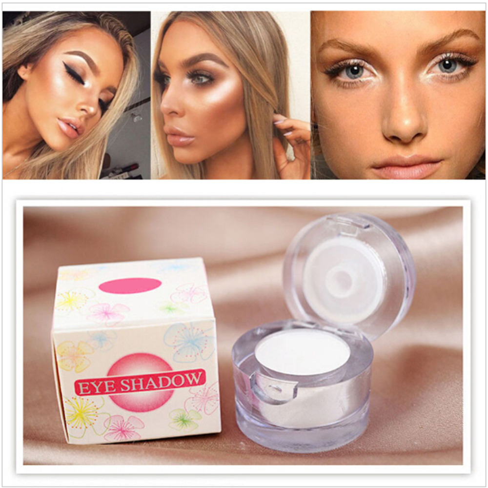 New arrival long lasting eye shadow brighten shining shadow single piece white color eyeshadow makeup durable