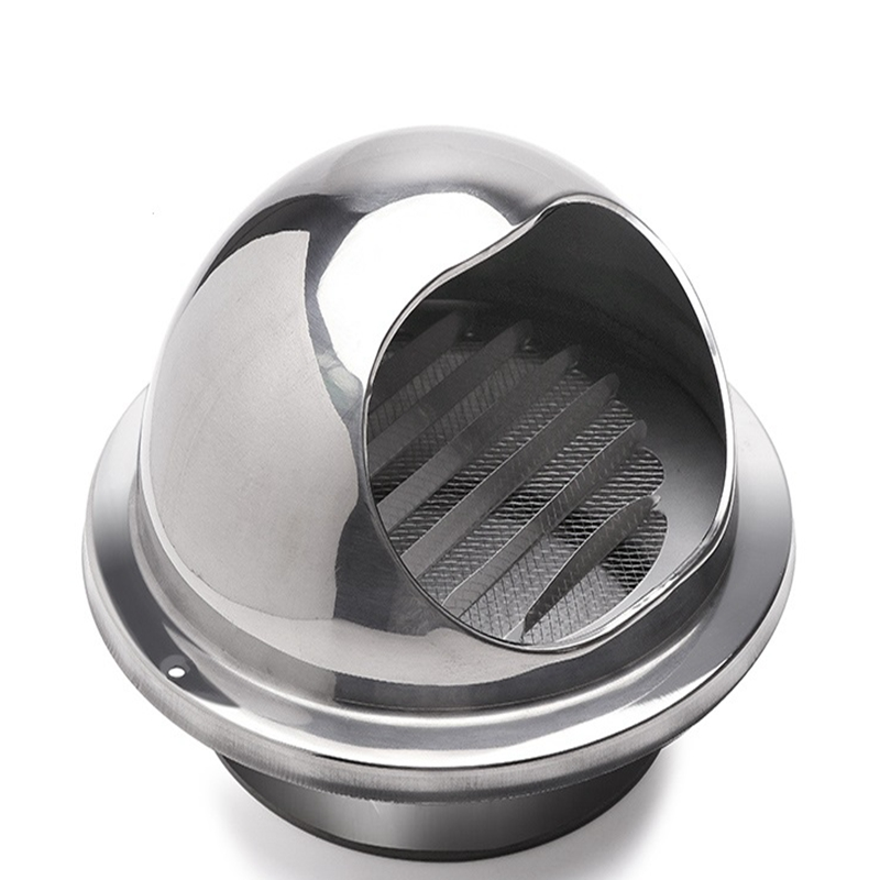 304 Stainless Steel Wall Air Vent Exhaust Bull Nose Windshield Kitchen Bathroom Extractor Outlet Grille Louvres High Polish