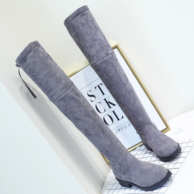 Thigh High Boots Female Winter Boots Women Over the Knee Boots Flat Stretch Sexy Fashion Shoes 2018 Black