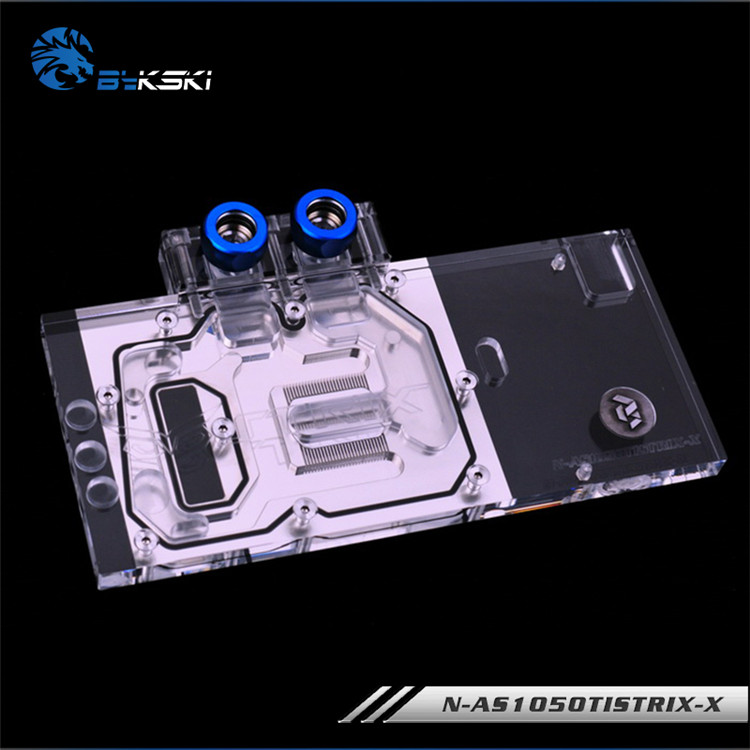 Bykski N-AS1050TISTRIX-X Full Cover Graphics Card Water Cooling Block RGB/RBW/AURA for ASUS STRIX-GTX1050TI-O4G-GAMING vg 86m06 006 gpu for acer aspire 6530g notebook pc graphics card ati hd3650 video card