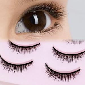 Image 1 - 5 Pairs New 3D Mink Popular Natural Short Cross False Eyelashes Daily Eye Lashes Girls Makeup Necessaries Eyelashes Maquiagem