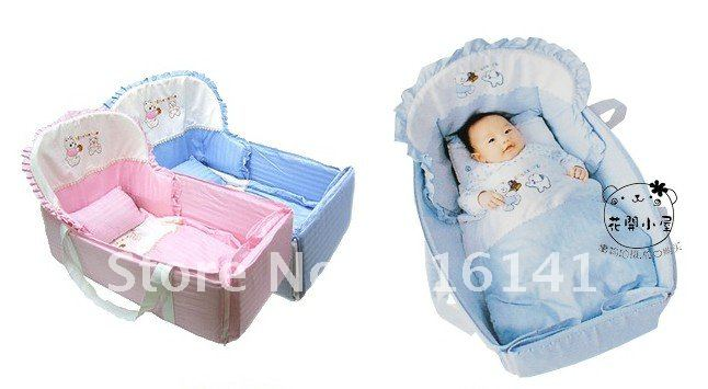 Multifunctional Baby Sleeping Bed /Portable Crib Folds Small Toys, Small Bed  With A Joystick~~Easy To Carry And Free Shipping In Baby Cribs From Mother  ...
