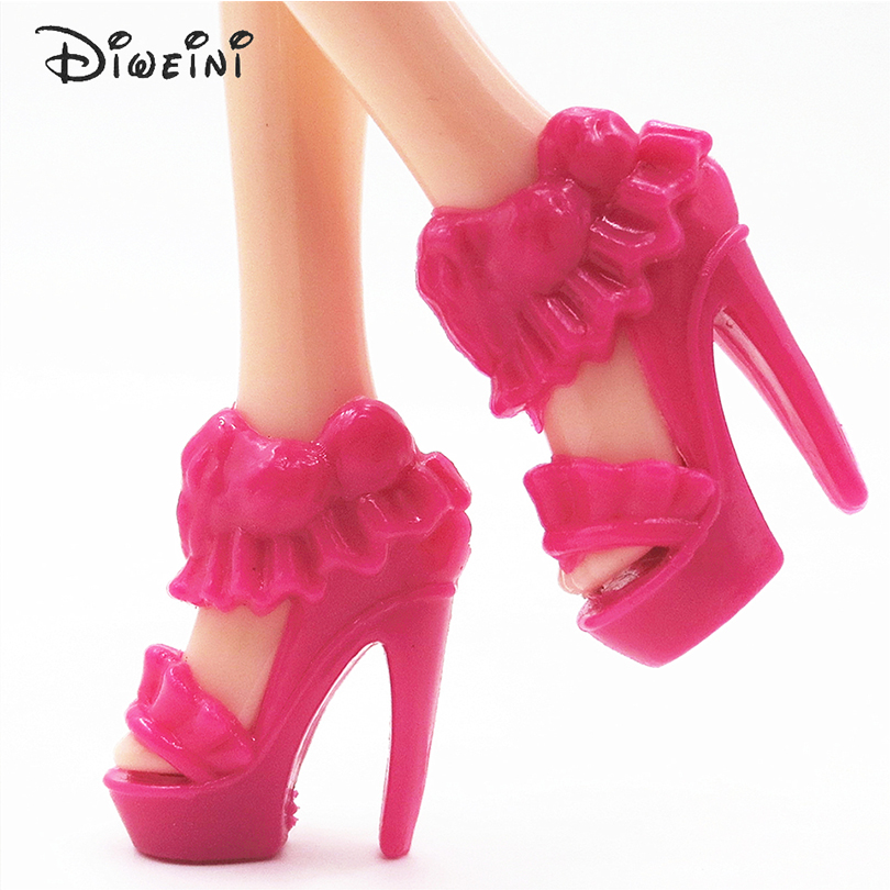 DIWEINI-12PCS-Shoes-for-Barbie-Dolls-Toys-Fashion-Doll-Accessories-Baby-Toys-Girls-Gift-Princess-fairy-tale-shoes-3