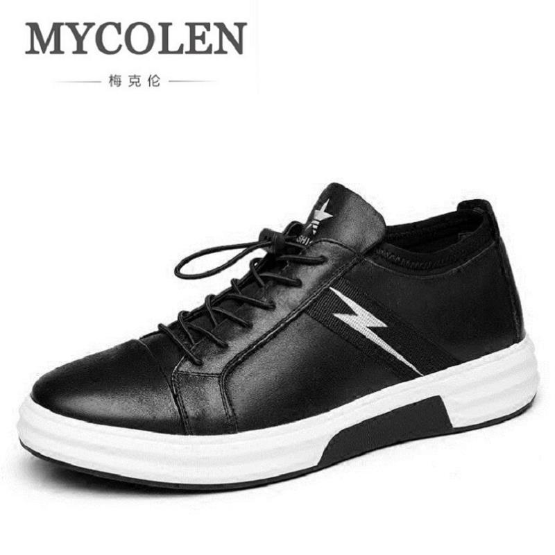 MYCOLEN Men's Sneakers Mesh Adult Comfort Casual Shoes Breathable Lace up Male Flats black Krasovki tenis masculino adulto glowing sneakers usb charging shoes lights up colorful led kids luminous sneakers glowing sneakers black led shoes for boys