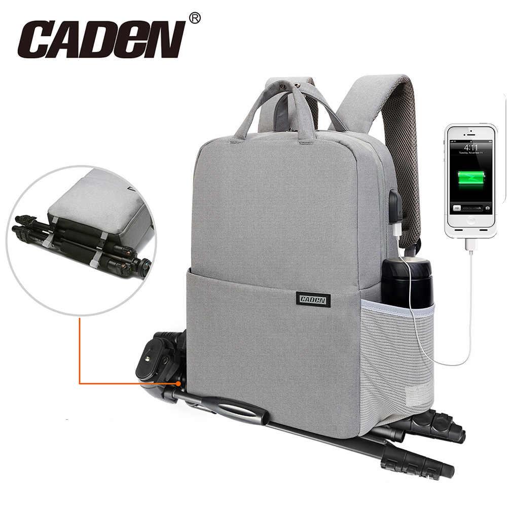 CADeN Three sizes Camera Bag Digital Camera Videos Waterproof Laptop School  Casual Photo Bag for Canon 579ba94204208