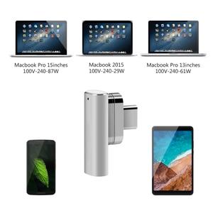 Image 5 - 100 واط المغناطيسي USB C إلى USB C نوع C محول الشحن 180 درجة عكسها دعم ل Pixelbook/Matebook إلخ