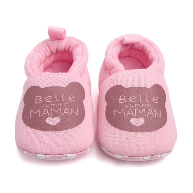יפה קריקטורה יילוד תינוק בנות חורף חם ראשון הליכונים תינוקות פעוט ילדי נעלי האלפבית פעוט נעל Zapatos # YL1