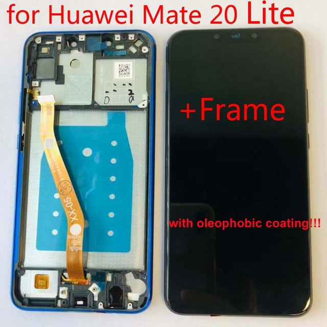 """Original For 6.3"""" Huawei Mate 20 Lite mate 20lite LCD screen Display+Touch panel Digitizer for mate 20 lite +Frame"""