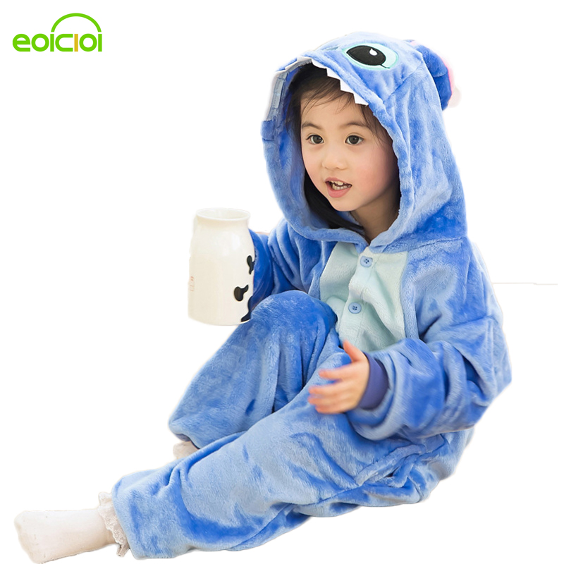 Winter Baby Boys Girls Children christmas   pajama     set   Flannel Stitch Animal   Pajamas   Kid   Pajama     sets   Onesies Children pyjamas kids