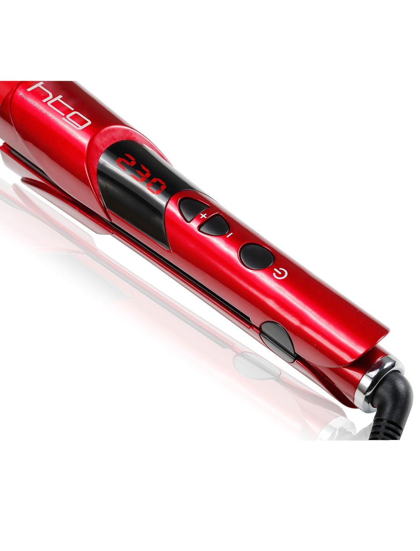2 in 1 HTG Professional Hair straightener Straightening iron & curling curl curler multi styler iron brush lock button HT043