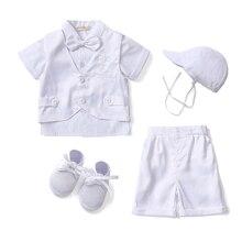 Gooulfi/Одежда для маленьких мальчиков на крестины летний костюм для маленьких мальчиков из 6 предметов праздничная одежда для новорожденных