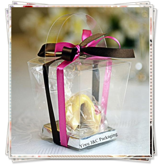 Clear Party Favor Boxes Michaels : Pcs clear pvc tote party cupcake boxes with silver