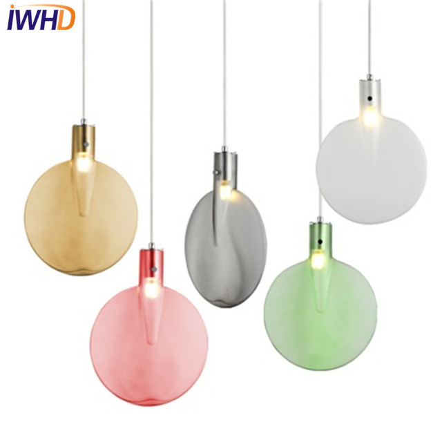 Iwhd Color Creative Table Tennis Bat Droplight Modern Led Pendant Light Fixtures For Dining Room Hanging