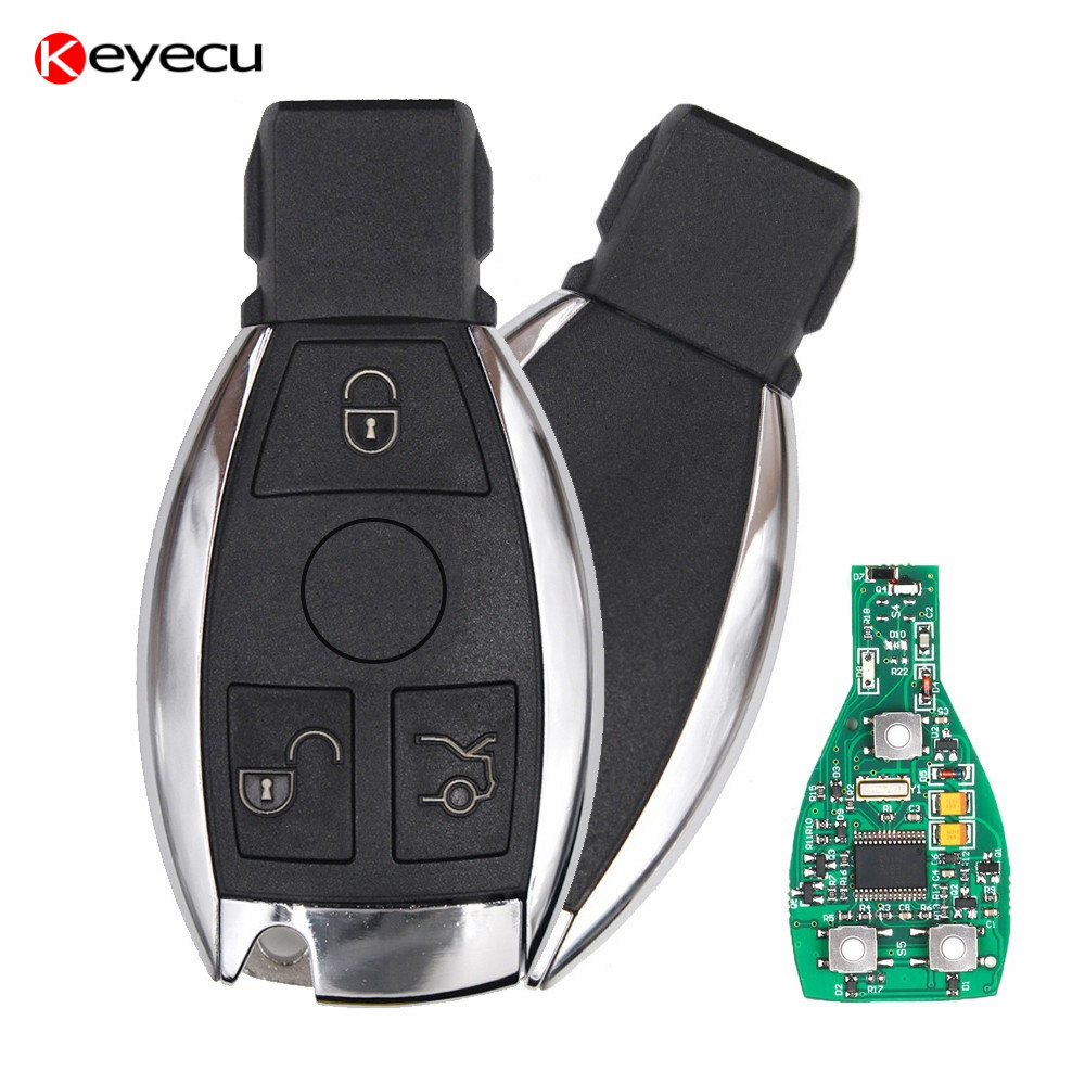 Keyecu Smart Car Key for Mercedes Benz Support NEC And BGA 2000+ Year,3 Buttons 315MHz 433MHz Auto Remote Key for Benz a mb ir nec key programmer for mercedes for benz new for benz ir nec key programmer mb ir key prog auto nec key programming