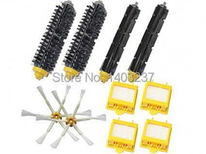 Bristle Brush Flexible Beater Brush Hepa Filters 6-Armed Side Brush Pack Kit for iRobot Roomba 700 Series 760 770 780 790