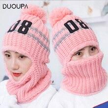 цена Hat Wool Ear Protector and Fleece Warm Knitted Hat Female Cyclists Wind-proof Ear Protector Headgear Winter Female Hat