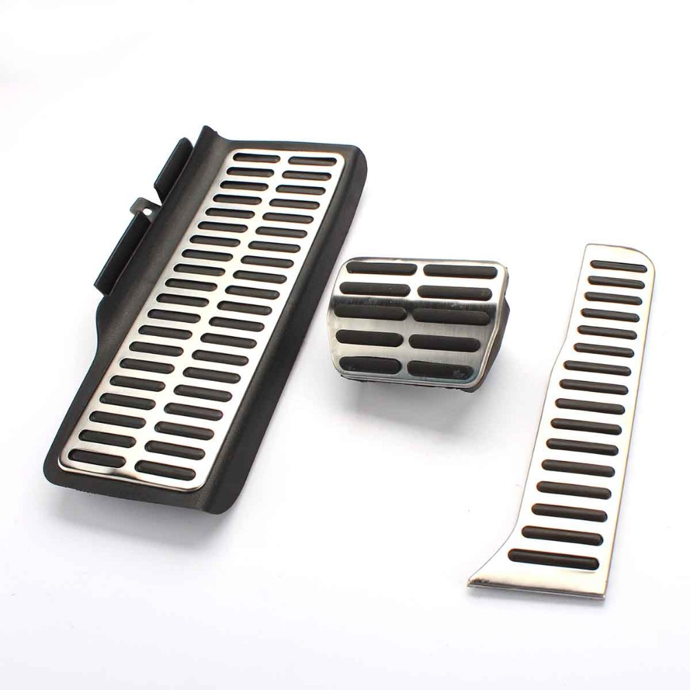 TAIHONGYU Car-styling Stainless Steel Sports Fuel Brake Pad Foot Rest AT Pedal for VW Golf MK6 Jetta MK5 Octavia 07-13