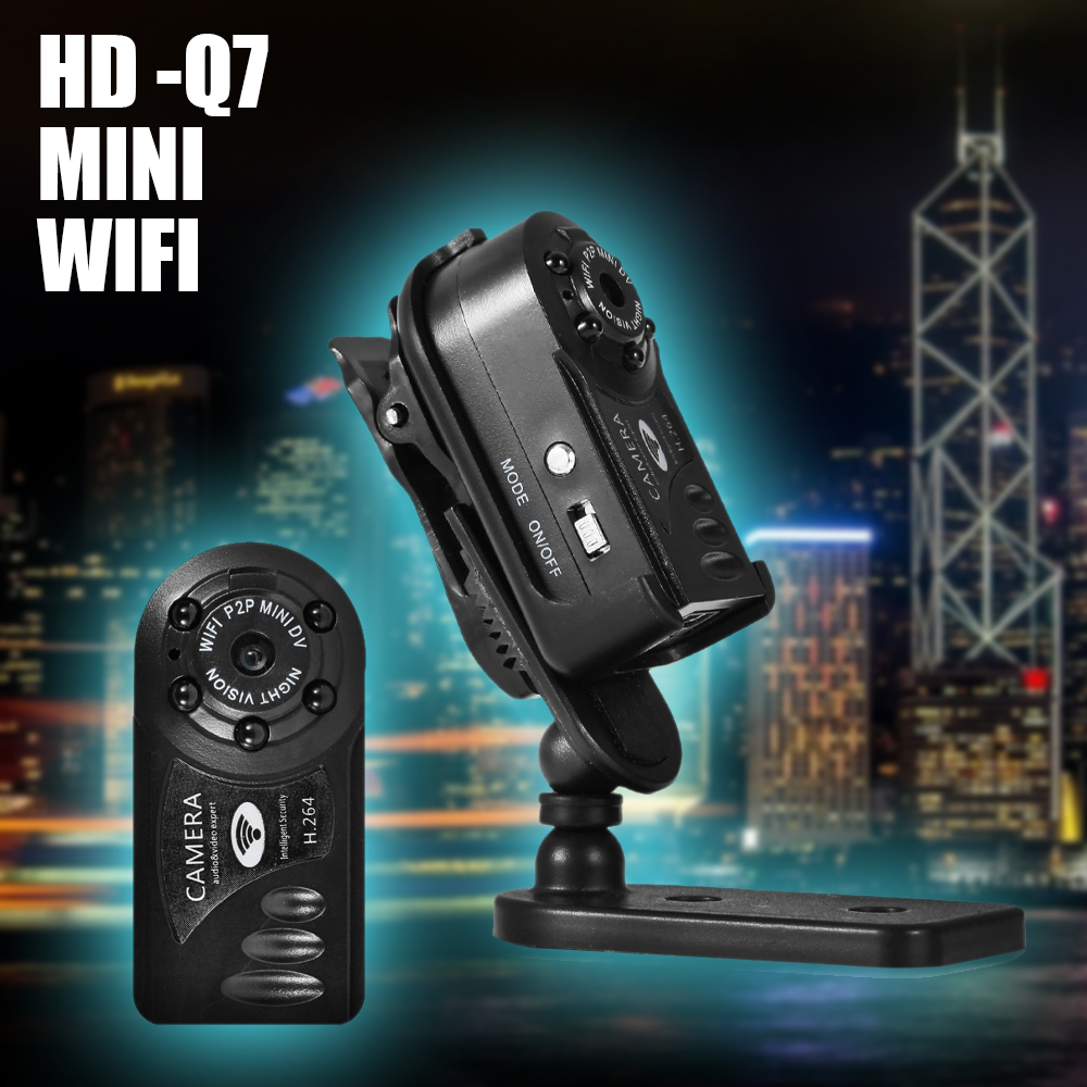 imágenes para Xinsilu wifi remoto con cable usb soporte de vigilancia móvil de red inalámbrica tarjeta tf cámara md81 abs envío gratis