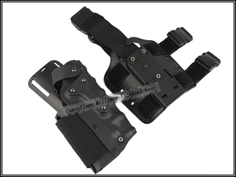 Tactical Waist Leg Holster TMS 3280 Military Mid Ride Holster Airsoft Paintball SWAT Shooting Combat Wholesale