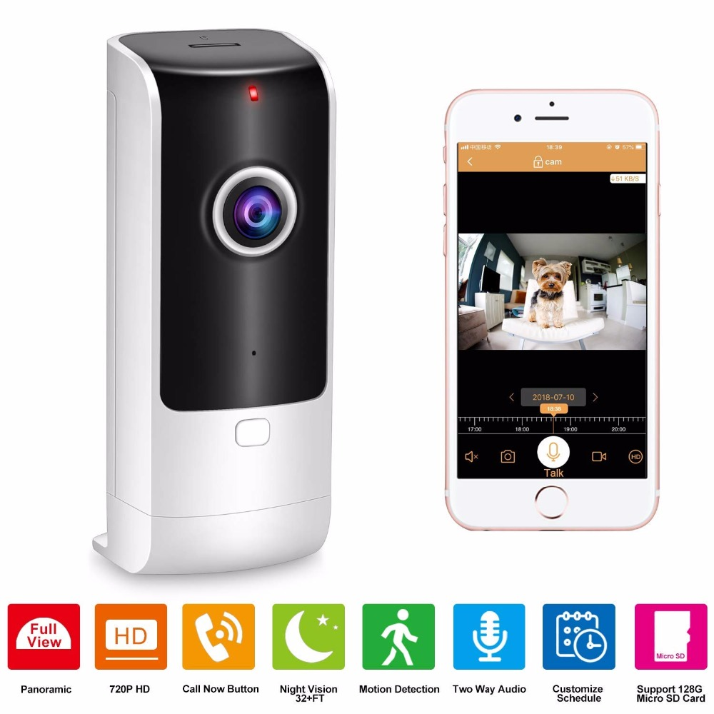 Ausdauernd Home Security Kamera Drahtlose Pet Kamera Baby Monitor Wifi Mit Nachtsicht Zwei-weg Audio Motion Erkennung Indoor Ip Video Cam Roboter Kameraroboter