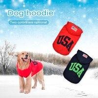 2018 الساخن بيع تصميم جديد الحيوانات الكلاب البلوز هوديي القطن الشتاء الملابس جرو الملابس الدافئة سميكة حجم كبير معطف