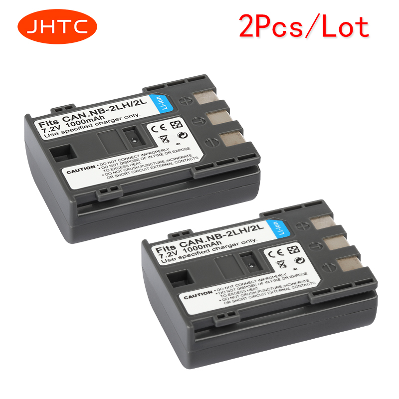 JHTC 2 Teile/los 1000 mAh NB-2L NB2L NB-2LH NB 2LH NB2LH Digitalkamera batterie Für Canon Rebel XT XTi 350D 400D G9 G7 S80 S70S30