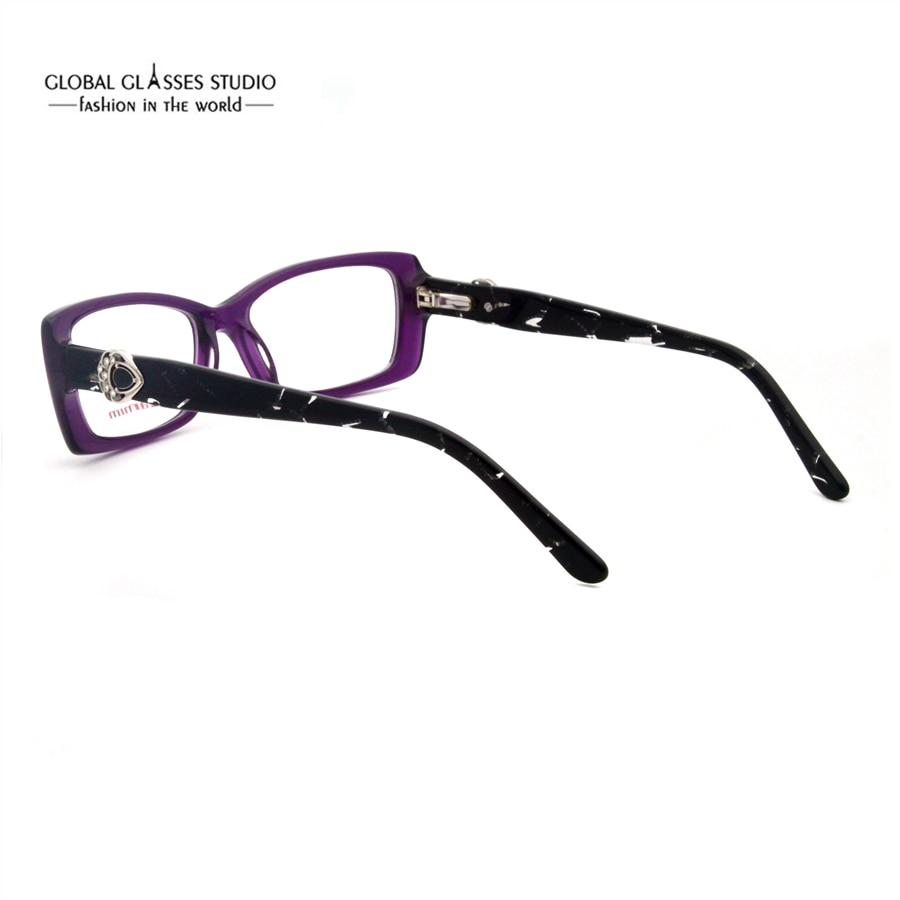 Geometrische Form Mädchen Edel Strass Brillen Lila Farbe Italien ...