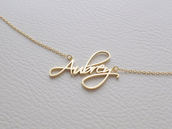 Custom Child Necklace Baby Name Necklaces Women Kids Gifts Personalized Nameplate Jewelry Stainless Steel Rose Gold Accessories