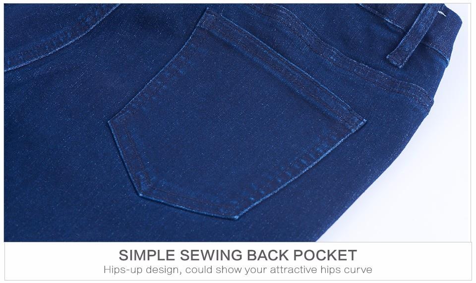 Women Plus Size Casual Slim Stretch Cotton Denim Jeans Blue black 56
