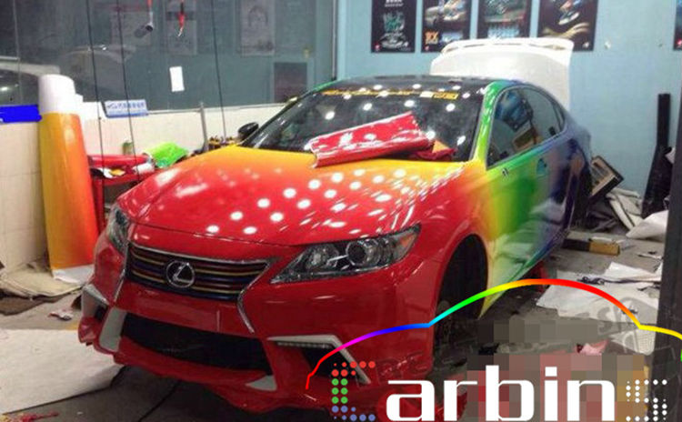 New Design Glossy Rainbow Car Color Vinyl Wrap Film Body Adhesive Graffiti Sticker Air Channels On Aliexpress