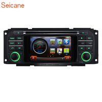 Seicane WinCE 6.0 4.3 2Din Car Stereo Radio GPS Navigation Multimedia Player For Jeep Wrangler Liberty Chrysler Grand Voyager