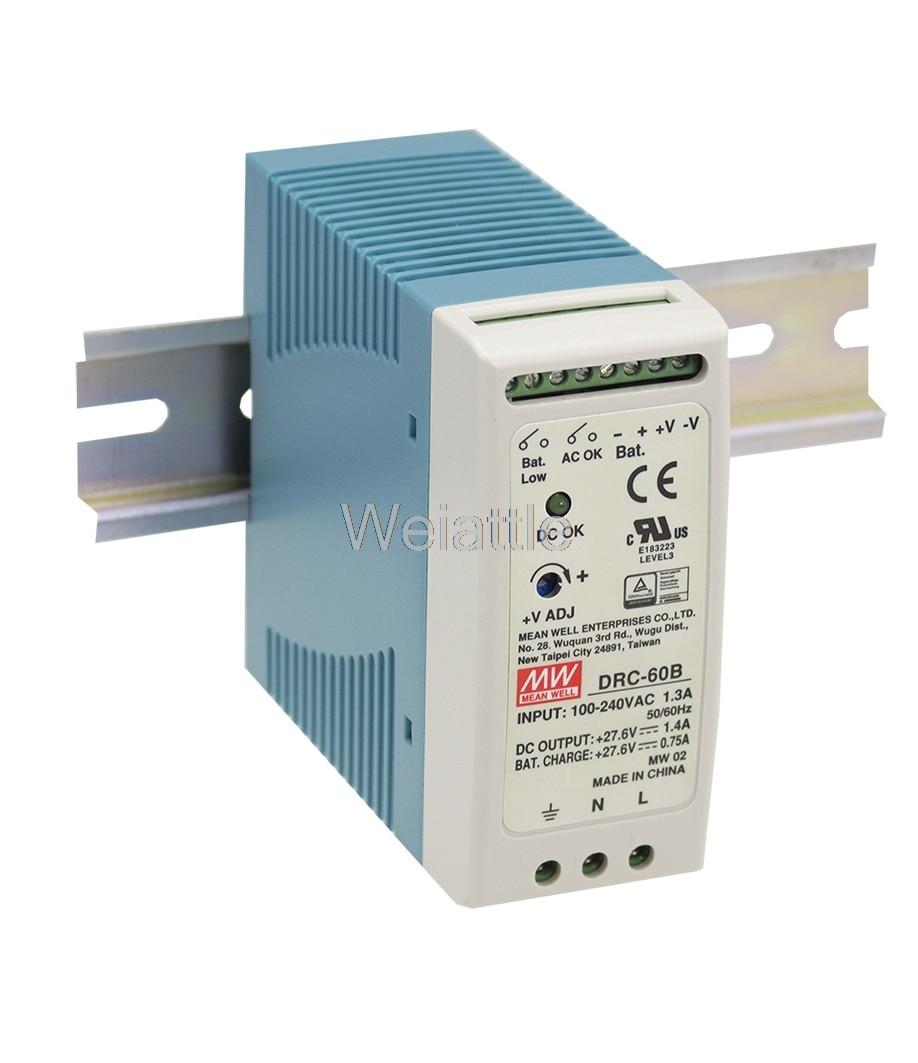 Moyenne bien original DRC-60B 27.6 V meanwell DRC-60 59.34 W sortie unique avec chargeur de batterie (fonction UPS)