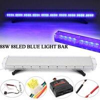 Smuxi 88W 88Led Special Blue Light Emergency Beacon Tow Truck Response Strobe Lamp 12/24V LED Work Light Bar Emergency Light