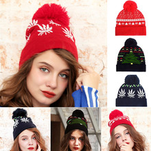 2019 Women Winter Hats Fashion Christmas Hairball Knitted Caps Hat Xmas HatsCap Soft