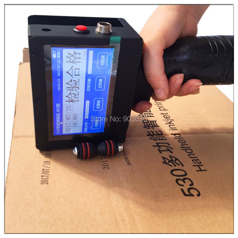 Smart Portable Handheld Date and Batch Number Printing Pvc Pipe Hand Solution Industrial Inkjet Printer