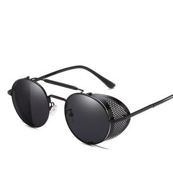 ba7895b2e0 Gafas De Sol redondas Retro Para hombres y mujeres, gafas De diseño De marca,  gafas De Sol y protección UV