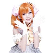 Hsiu alta qualidade honoka kosaka cosplay peruca lovelive! Amor ao vivo traje jogar perucas adultas halloween anime cabelo frete grátis