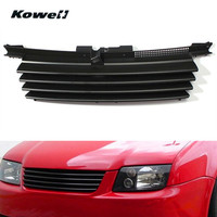 KOWELL Front Bumper Center Grill Middle Grille For Volkswagen VW Jetta Bora MK4 1999 2004 Car