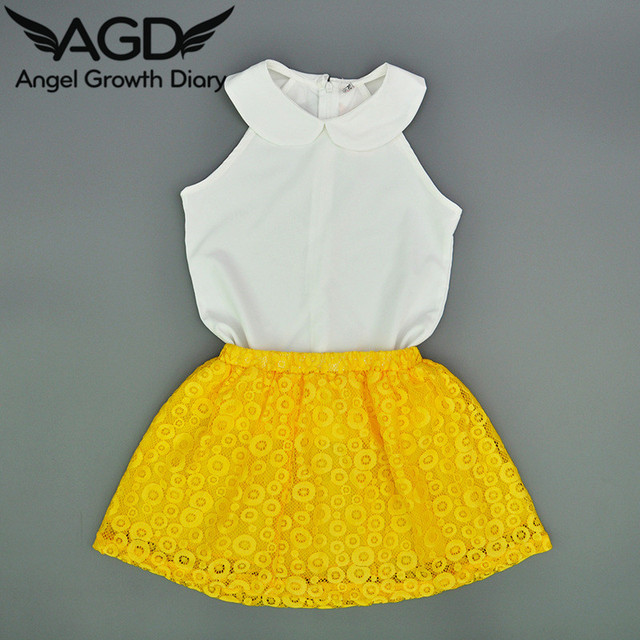 b7322eeb6 Aged1 5T Summer Kid Girl Clothing Set Suit Girls Clothes Doll Collar ...