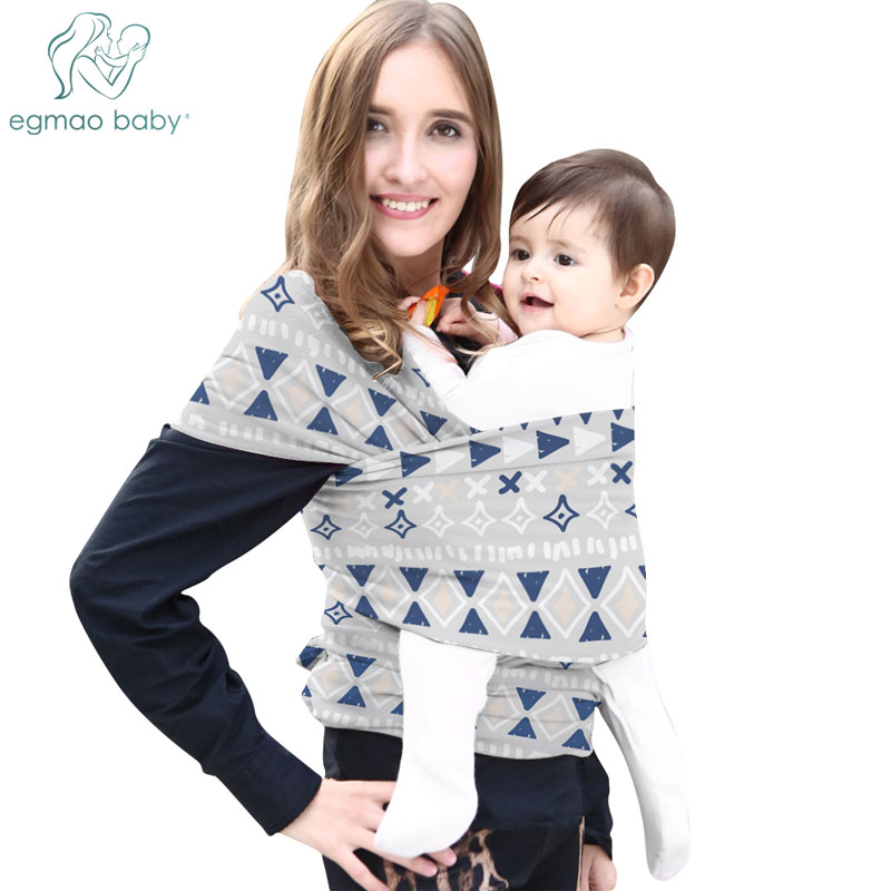 Baby Wrap Carrier All-in-1 Stretchy Baby Wrap Lightweight Baby Sling Carrier Wrap Hands Free Carrier Newborn Carrying Pouch