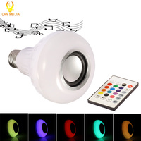 Smart E27 RGB Wireless Buletooth Speaker LED Bulb Light 12W Dimmable RGBW Music Playing Leds Lamp