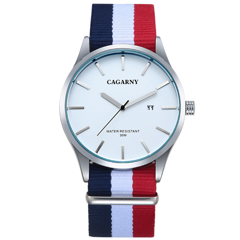 Hombre Nylon Quartz-Watch Casual