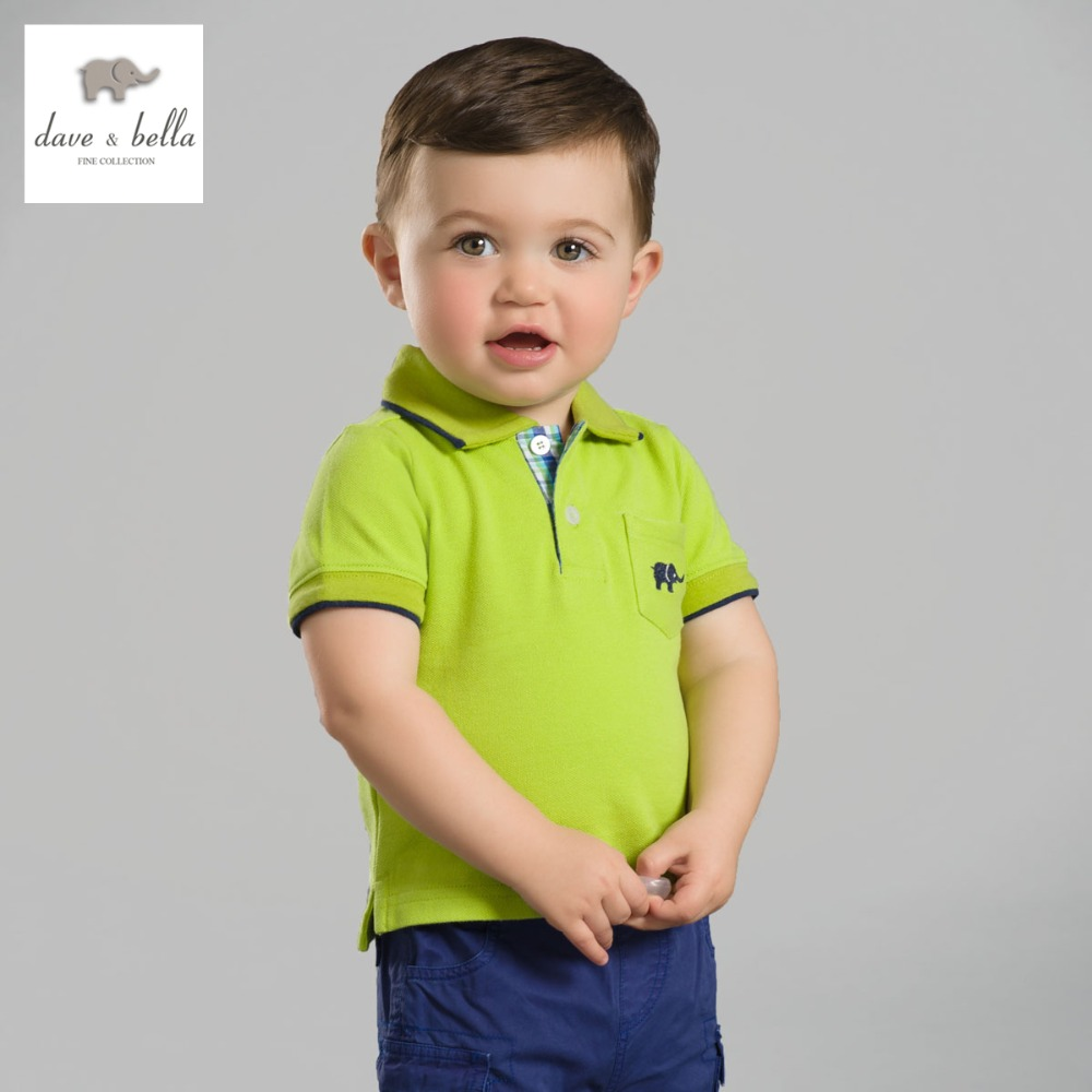 DB2636 dave bella summer baby boys cotton polo shirts ...