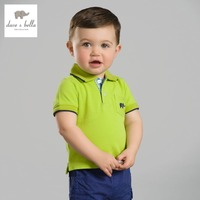DB2636 Dave Bella Summer Baby Boys Cotton Polo Shirts Infant Clothes Toddle Polo Kids Tops Children