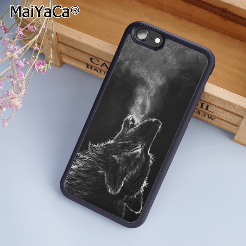 MaiYaCa howling wolf Phone Case Cover for iPhone 5 5s SE 6