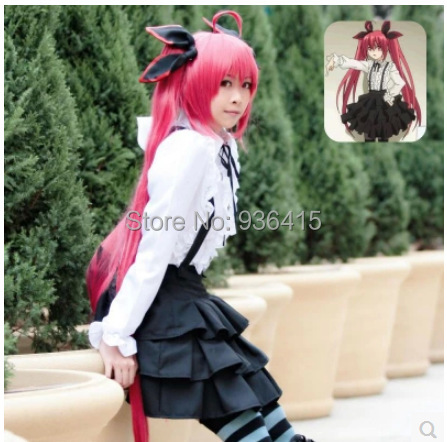 Free shipping New JP anime DATE A LIVE Tokisaki Kurumi women girl black and white Cosplay Costume set Custom for women for party