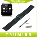 24mm Milanese Watchband for Sony Smartwatch 2 SW2 Mesh Stainless Steel Watch Band Bracelet Link Strap Black Rose Gold Silver