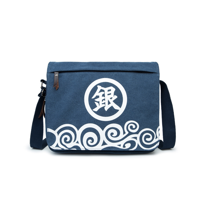 Gintama Blue canvas daily use canvas bags school shoulder bag GINTAMA props GIFT FOR ANIME FANS AB253 5