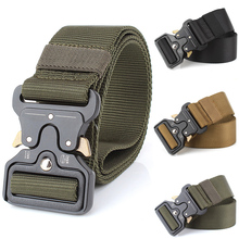 Tactical Belt Men Adjustable Military Tactical Waist Belts with Metal Buckle Multi-function Training Hunting Accessories P25 цена 2017