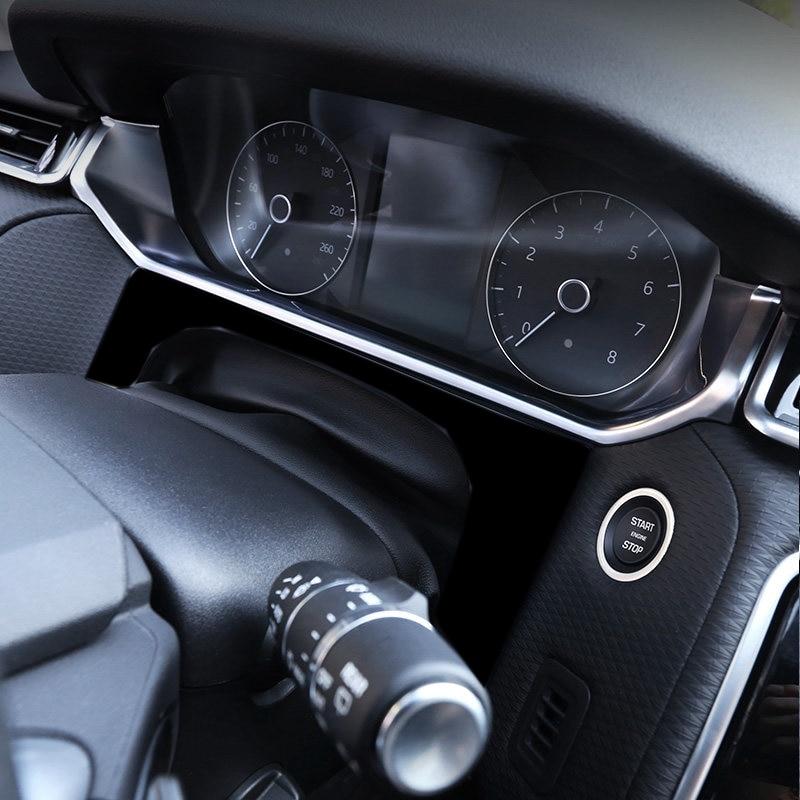 for Land Rover Range Rover Velar 2017 2018 ABS Matt Interior Car Interior Upper Dashboard Console Strip Trims car styling|Chromium Styling| |  - title=